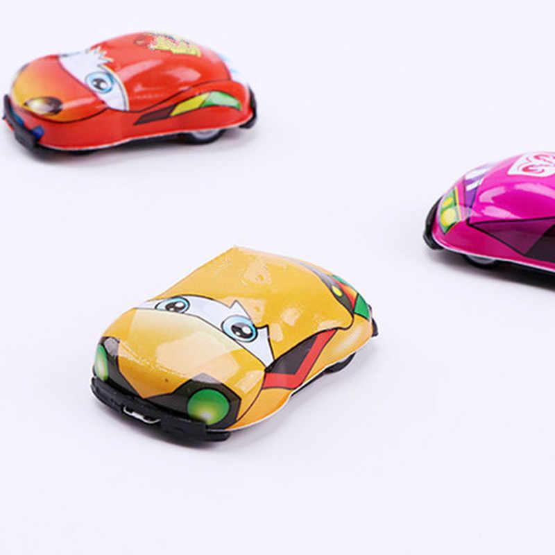 1 PC/5 Pcs Kartun Mainan Lucu Plastik Tarik Kembali Mobil Mobil Mainan untuk Anak Roda Mobil Mini Model lucu Anak-anak Mainan untuk Anak Laki-laki Anak Perempuan Xyr