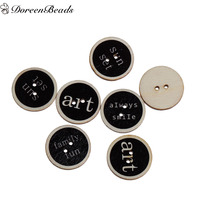 Wood Sewing Buttons Scrapbooking 2 Holes Round At Random Christmas Snowman Pattern 25mm(1