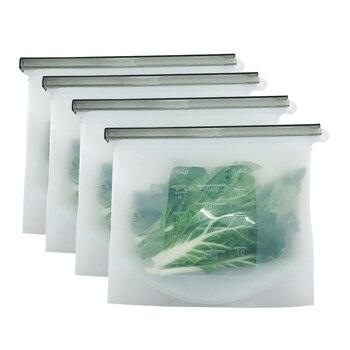8 قطعة أدوات سيليكون لإعداد الطعام الطازجة حقيبة قابلة لإعادة الاستخدام فراغ مختومة حقيبة مبرد قفل منزلق وجبات خفيفة/السندويشات ماء مالح تخزين أكياس المطبخ أداة