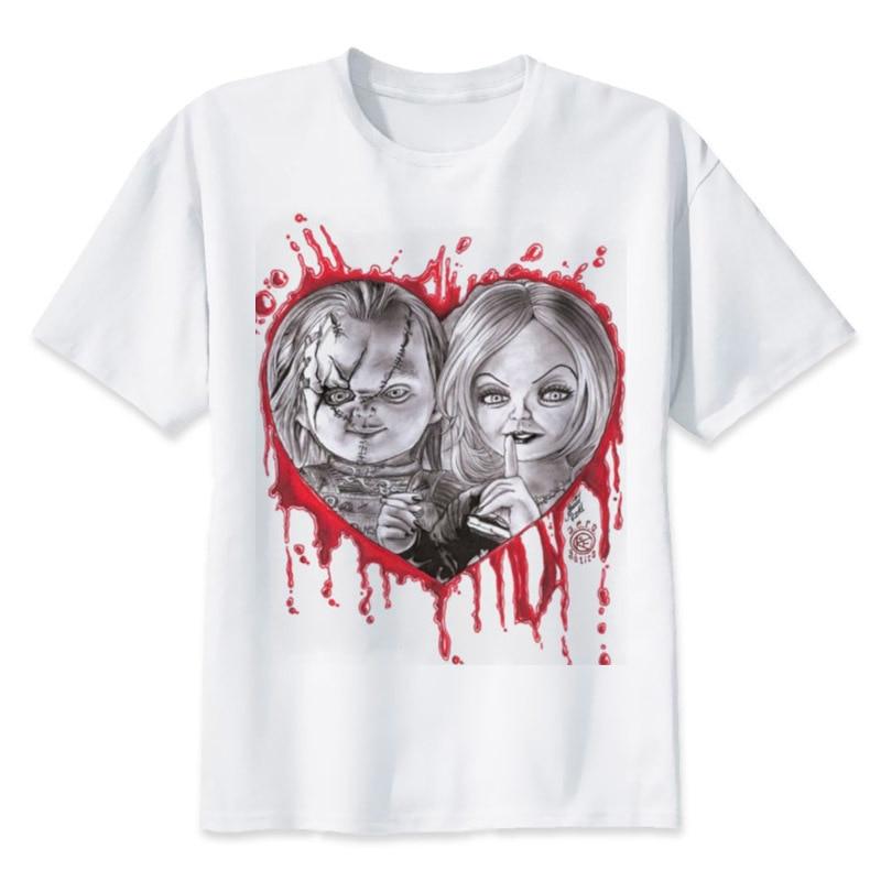 Chucky T Shirt Men High Quality Cool Streetwear Men T-shirt Casual Horror Tshirt Chucky Print O-Neck Male Clothing