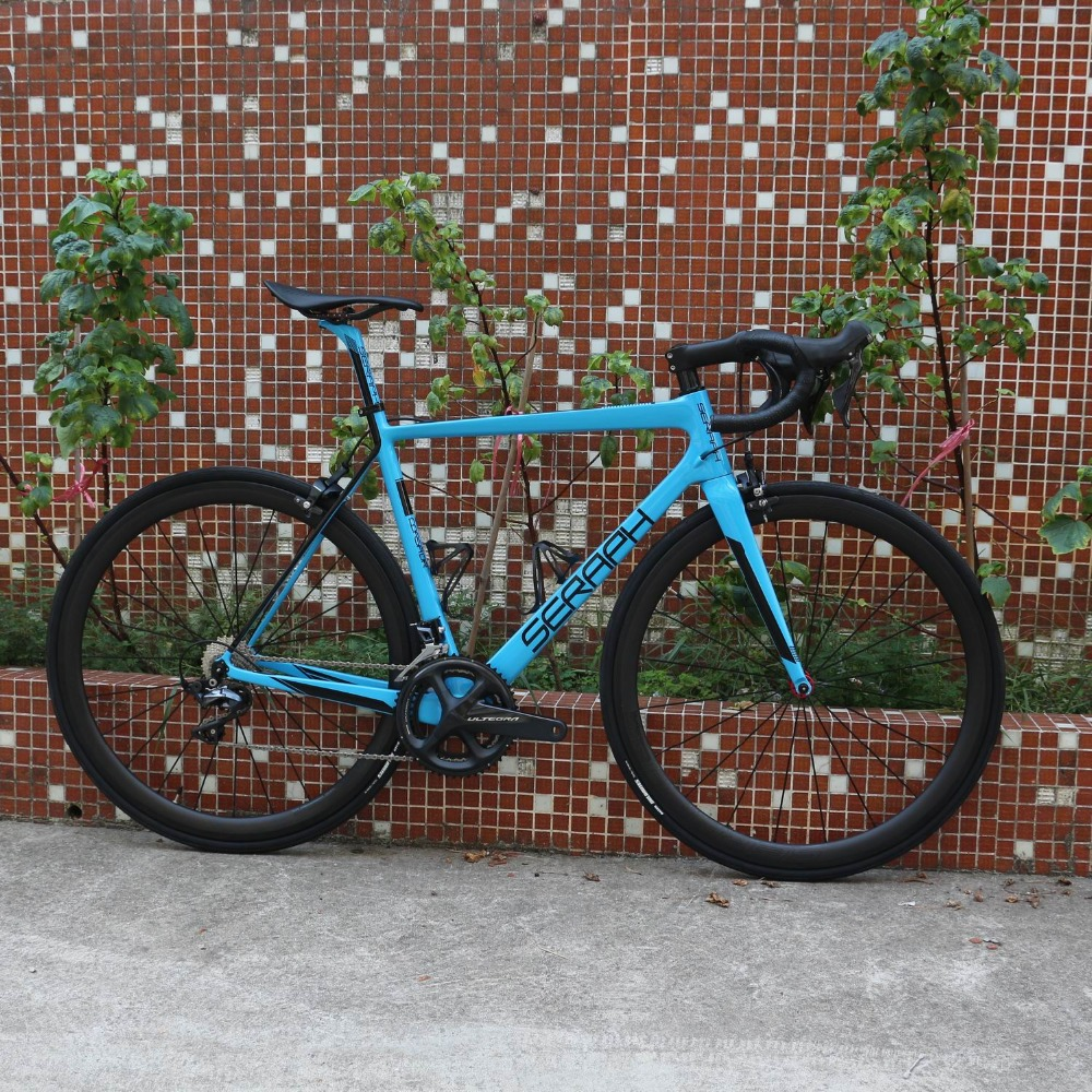 SERAPH vélo de route en carbone vélo complet vélo de route en carbone avec groupe Shimano R8000 22 vitesses