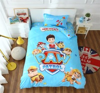 100% cotton 3d paw patrol bedding set girl boy baby duvet cover cartoon dog Bed linen Bedclothes sheet Size Twin 3Pcs