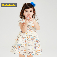 Balabala Toddler Girls Princess Dress With Cartoon Printed Children Clothing Costume Dresses Girl Knee Length Dress