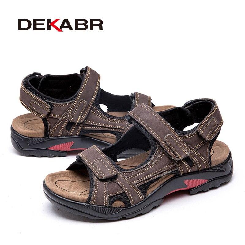 Image 5 - DEKABR Top Quality Sandal Men Sandals Summer Genuine Leather Sandals Men Outdoor Shoes Men Leather Shoes Big Plus size 46 47 48Mens Sandals   -