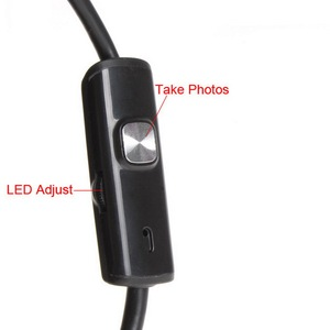Image 5 - 720P Endoscope Camera 8mm Lens Android USB Endoscope Flexible Snake Cable Led Light Inspection Camera For Phone PC Borescope