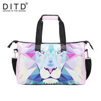 DITD Men Travel Bags Carry on Luggage Bags Women Duffel Bags lion Handbag Travel Tote animal Large Weekend Bag Travel Duffle