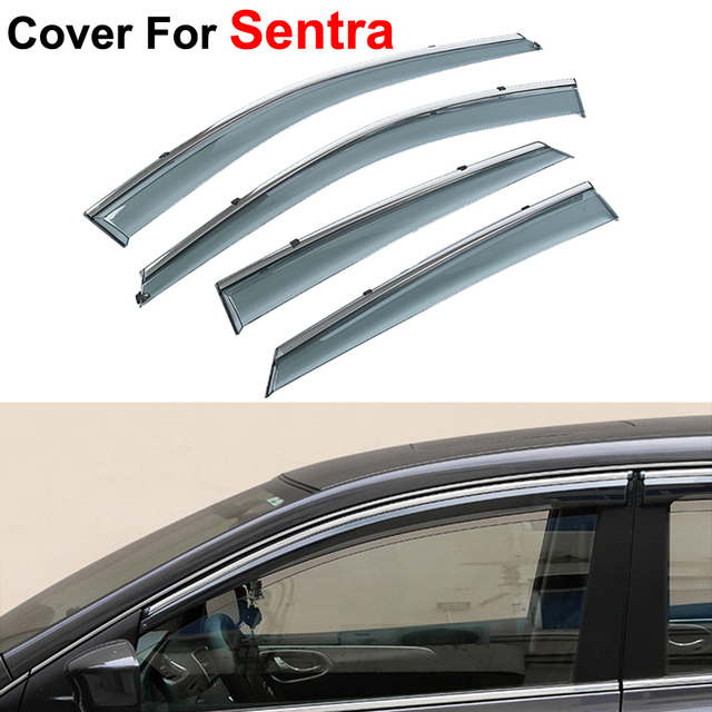 4pcs/lot Window Visor For Nissan Sentra 2014 2015 Rain PC Rain Shield Stickers Covers Car-Styling Accessories Awnings Shelters