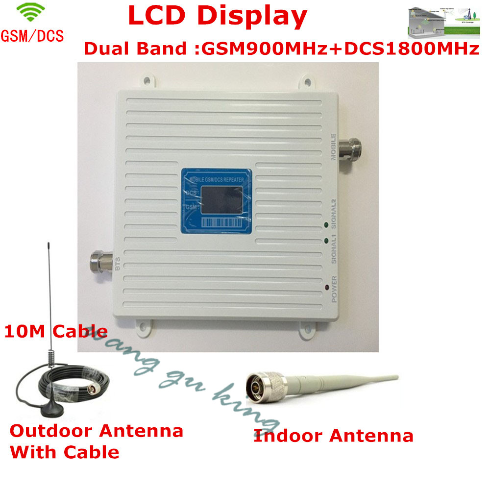 LCD Display !!! Dual Band GSM 4G Repeater GSM 900mhz DCS 1800mhz Cellular Signal Booster 2G GSM Mobile Phoen Signal Amplifier