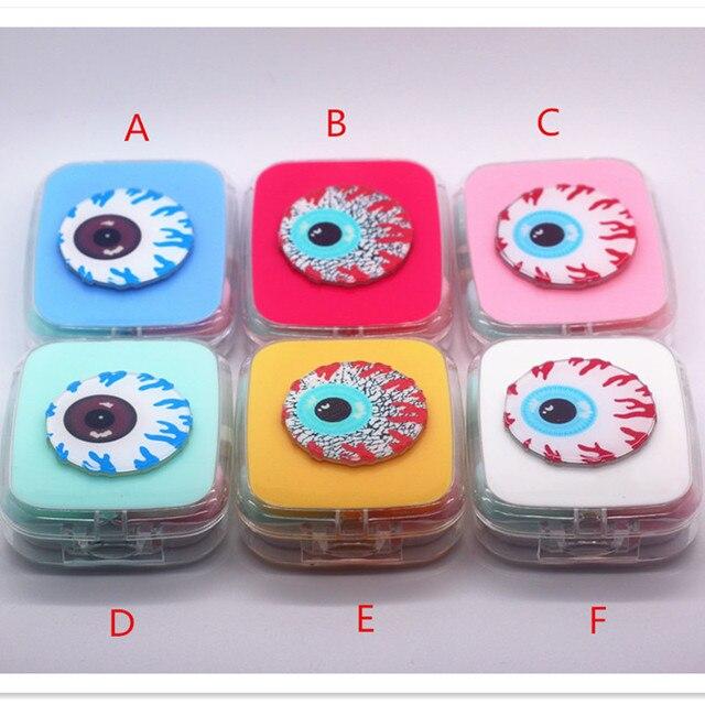 Liusventina Портативный DIY акриловые Симпатичные глаза глазное яблоко Контактные линзы Дело Box с зеркалом контейнер для Цвет Оптические стёкла подарок для детей