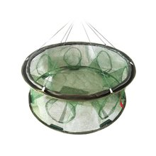2017 New Folded Fishing Net Crawfish Mesh Fish Basket Casting Shrimp Cage Multifunctional Minnow Lobster Crab Fish Trap Cages