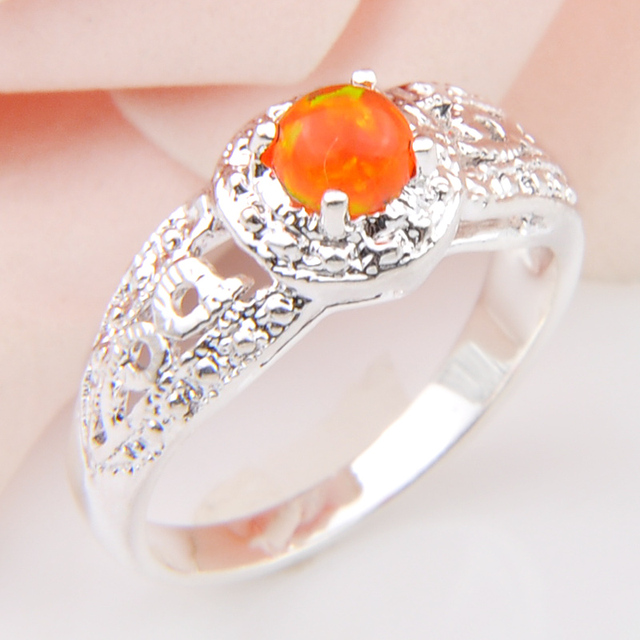 Promotion High Quality Fire Created Opal Gems Wedding Rings Russia