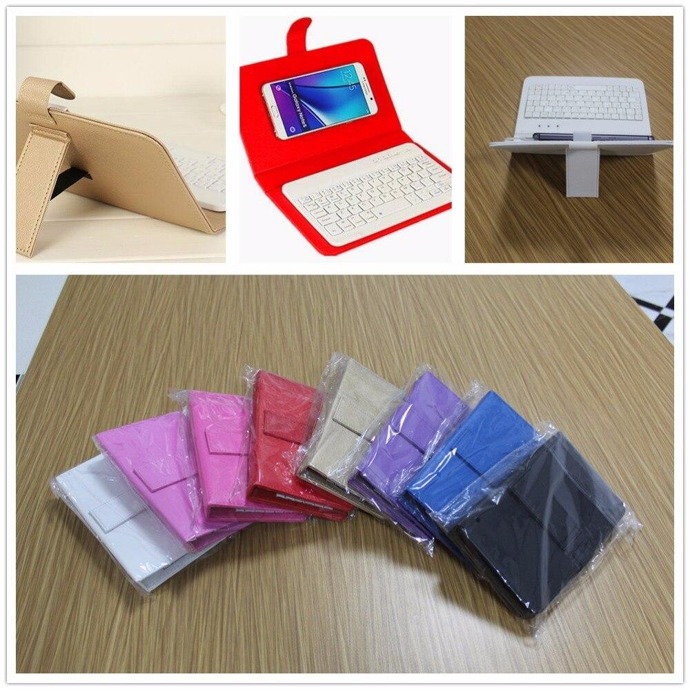 imágenes para Universal Inalámbrico Bluetooth Teclado de Cuero de LA PU Caja Del Teléfono Móvil Para el iphone 7 6 6 S Samsung Huawei Xiaomi Lenovo ZTE Sony