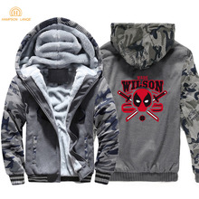 Deadpool Wade Wilson Men Hoodies 2019 Winter Jackets Thick Camouflage Hoodie  Super Hero Mens Sweatshirts Hip Hop Streetwear