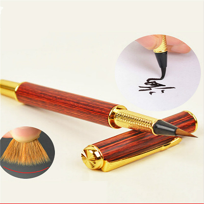 Weasel Hair Fountain Pen Style Calligraphy Brush Pen Small Regular Script Brush Creative Soft Head Water Brush Repaeting Ink Pen цена