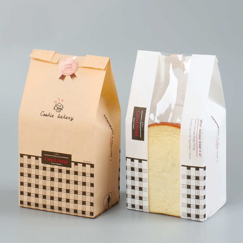 Warehouse product bread and bakery products wrapped and wrapped in parcels