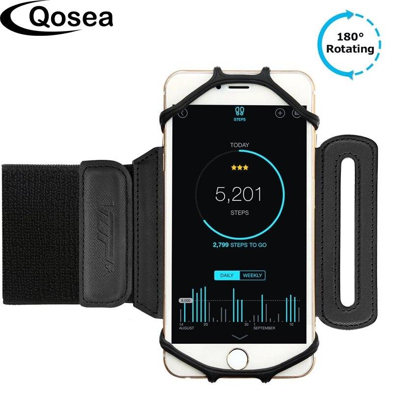 Qosea Универсальный Запуск браслет Спорт телефона, держатель мешка Браслет повязку для 4-6 дюймов телефон устройств Тренажерный зал Спорт крос…
