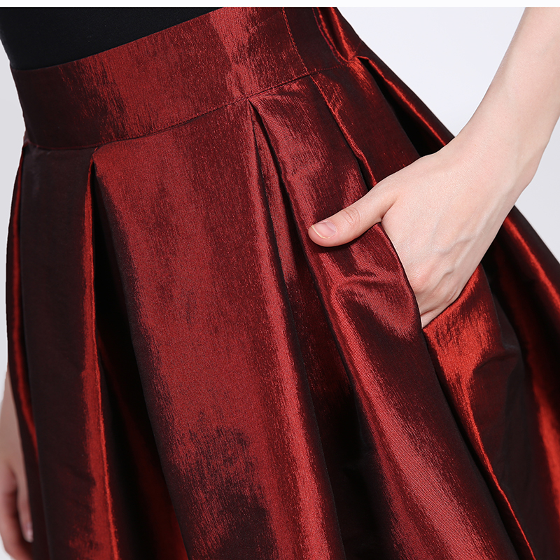 2019 Fashion Long Skirts Women Faldas High Waist Pleated Womans Floor Length Skirt Plus Size Elastic Elegant Ladies Jupe Skirts