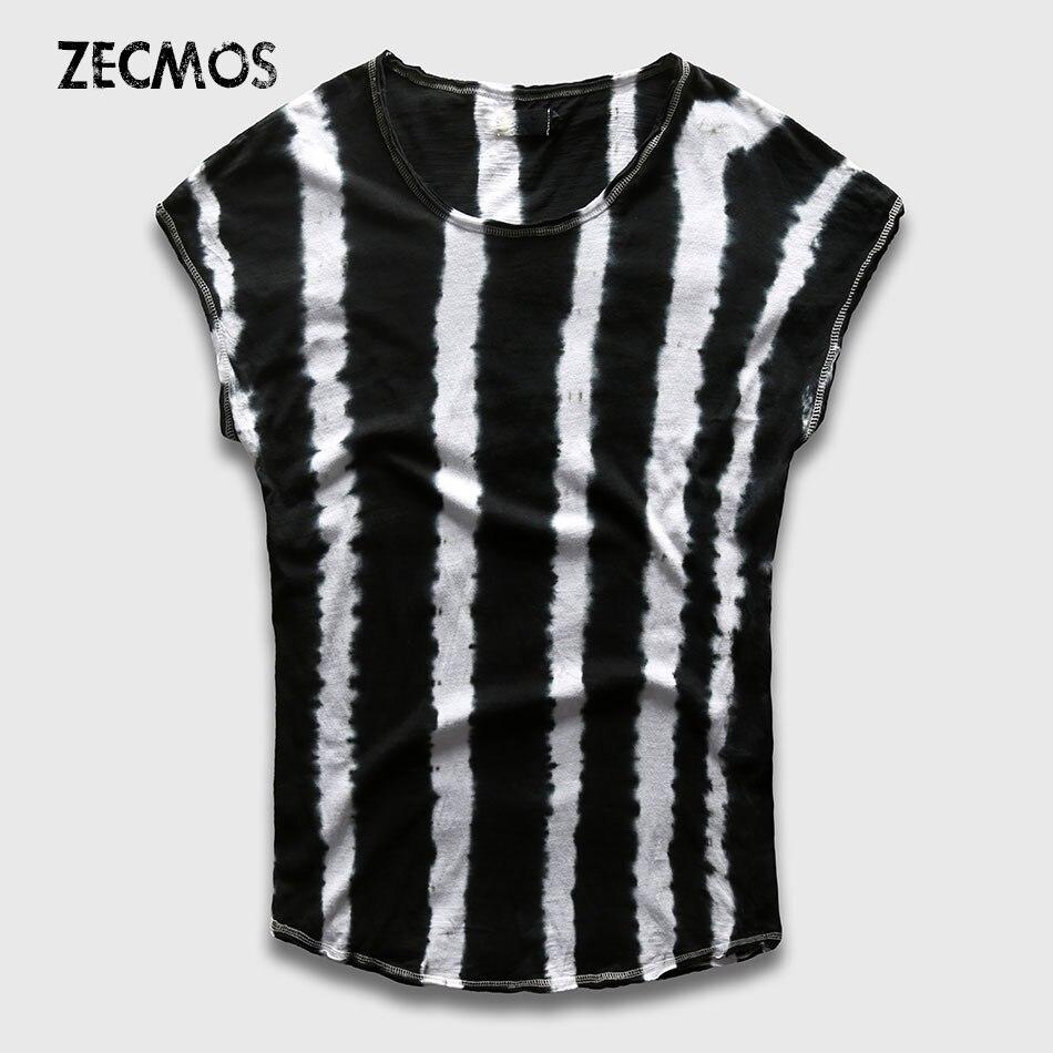 Black t shirt dye - Zecmos Tie Dye T Shirt Men Black White Color Block T Shirt Male Top Tees