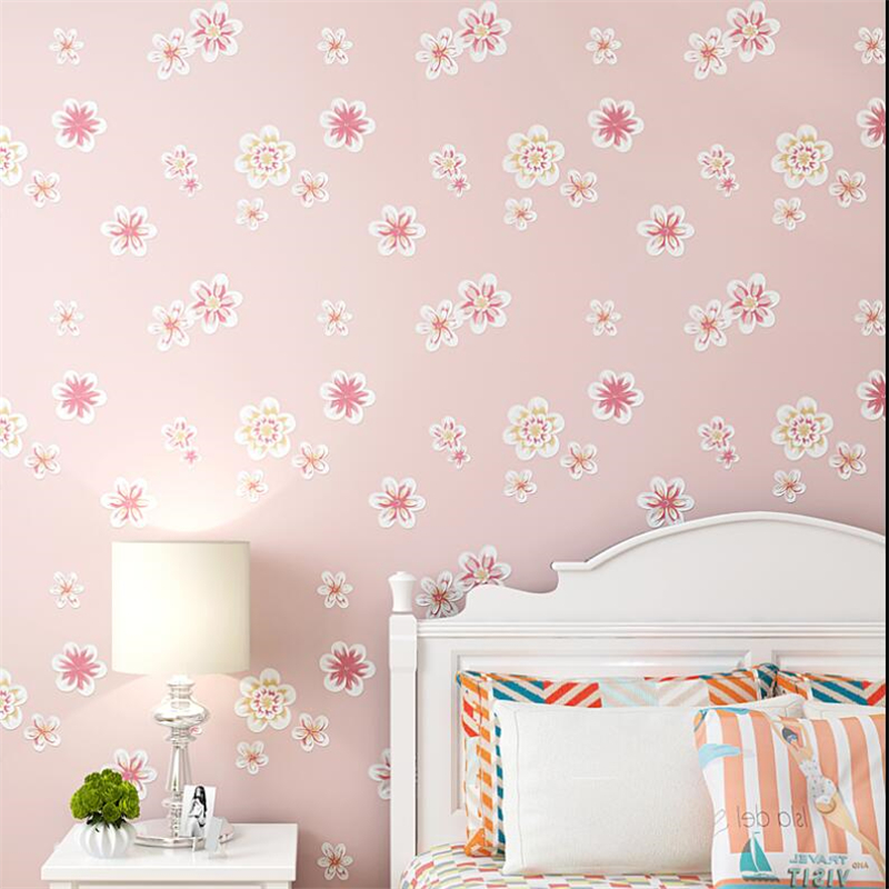 Wallpaper For Walls Prices Part - 41: Beibehang Wallpaper For Walls 3 D Girl Pink Pastoral Floral 3D Wallpaper  Kids Room Princess Room