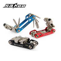 SAHOO 17 In 1 Bike Foldable Mini Multi Tools MTB Road Bicycle Spoke Wrench Chain Cutter