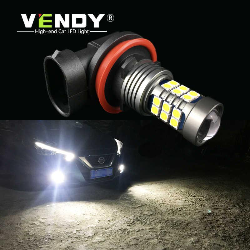 VENDY 1pcs Car LED Lights Auto Bulb Lamp 12V H8 H11 H10 H16 9006 HB4 PSX24W 2504 9005 HB3 9145 9140 High Power 27 SMD 3030