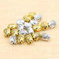 20pcs/lot Tibetan Silver Antique Gold Buddha Head Spacer Beads Charms Fit Diy Beaded Bracelets Jewelry Handmade Making