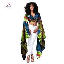 2017 Africano Bazin Riche Roupas Sexy Mulheres Curto Encabeça a Camisa de t para Mulheres Cortar Top de Manga Comprida Moda Projeta Roupas 6XL WY1154