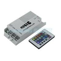 Audio sound empfindlichen controller rgb musik controller 12-24 V 24 Schlüssel Drahtlose Ir-fernbedienung LED Music Sound Control