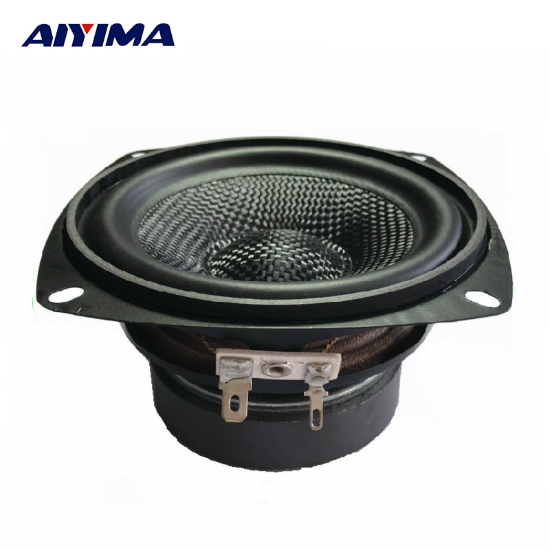 1Pcs 4Inch Portable Audio Speaker 4Ohm 30W Fiberglass Woofer Speaker Damp Outdoor Audio Speakers For Home Theater