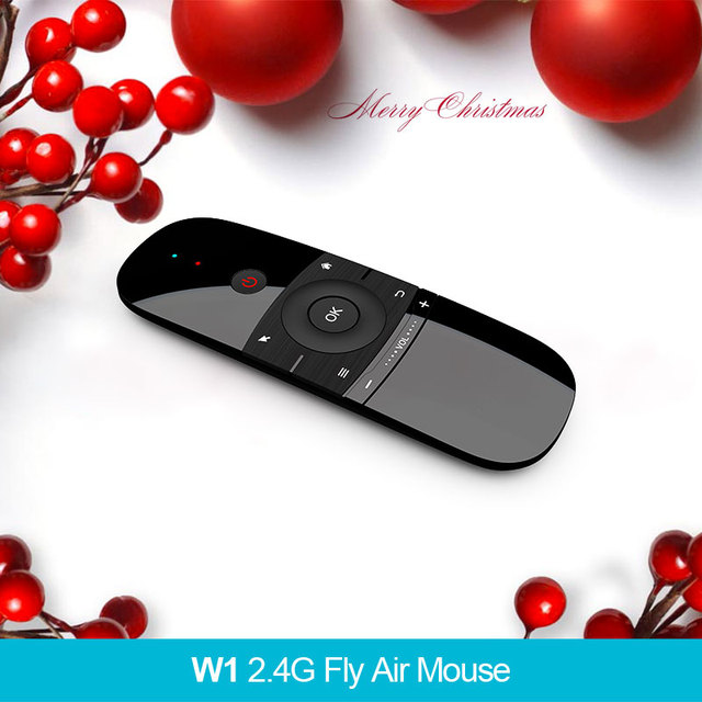W1 2.4G Air Mouse Wireless Keyboard Remote Control Infrared 6-Axis Motion Sense w/ USB Receiver for TV Android mi box