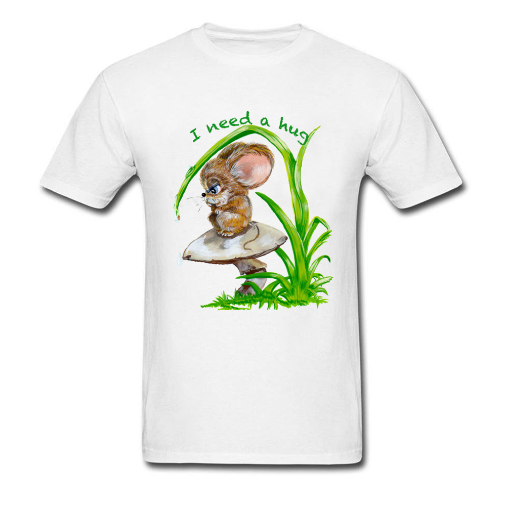 fde116bd053 US $7.44 39% OFF|Black T Shirt For Man Hug Need Tshirt Lonely Mouse Print T  shirts Summer Kawaii Tops Tees Custom Adult Clothes Cotton Fabric-in ...
