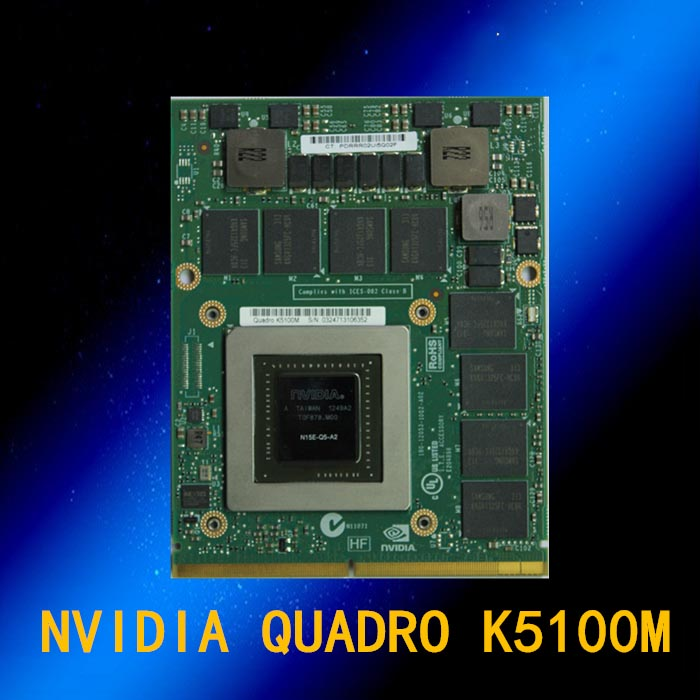Quadro K5100M 8GB DDR5 D7Z23AV 708539-001 728555-001 Graphics Card