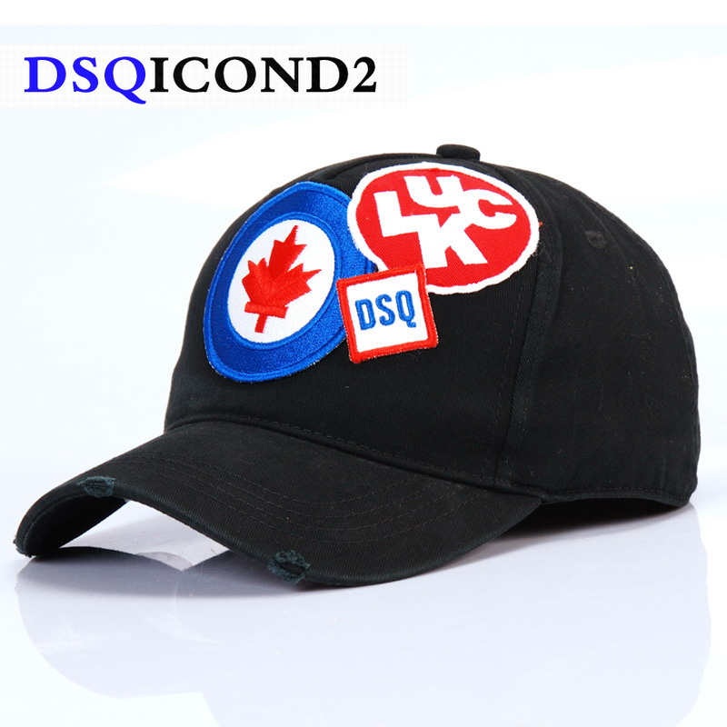 7a069c7c4f7 DSQICOND2 2018 Brand Baseball Cap Men Casquette Homme Snapback Cap Letters  Patch DSQ Dad Hat for