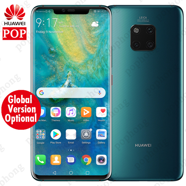 Global Version Optional HUAWEI Mate 20 Pro Mobile Phone Full Screen Waterproof IP68 40MP 4 Cameras Kirin980 Quick charger 10V/4A