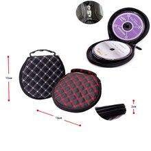 Ymjywl CD Case pojemność 20 płyt CD wysokiej jakości okrągły DVD Box torba na CD do samochodu i domu przypadku