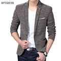 Blazer Men 2017 Men'S Fashion Brand Solid Linen Personality Pocket Male Single-Breasted Single Button Terno Masculino 3XL FIWYRN