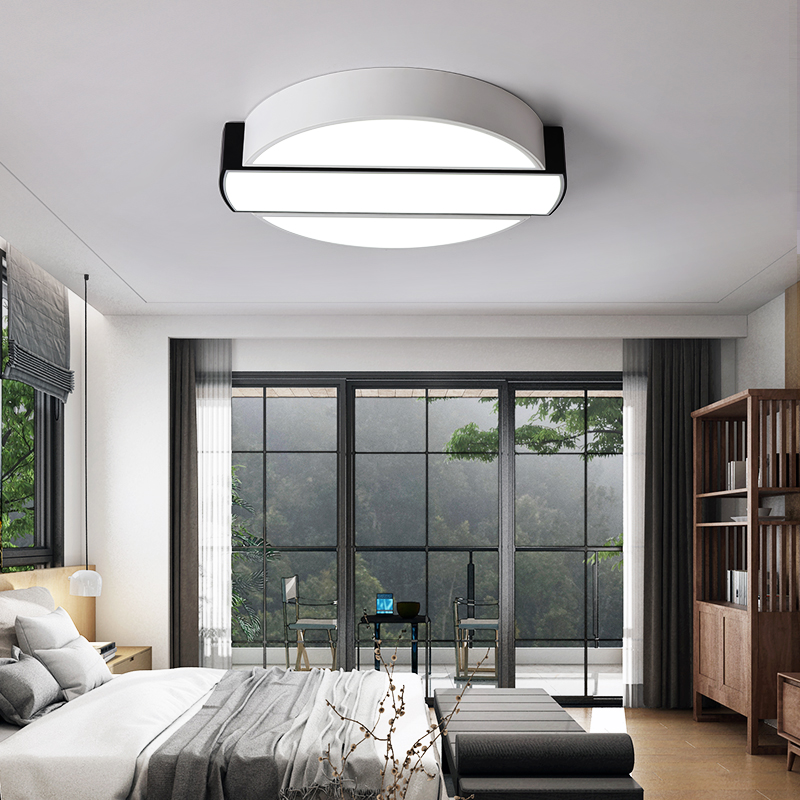 Dining Room Black And White: Aliexpress.com : Buy Ultra Thin Simple Modern Bedroom Lamp