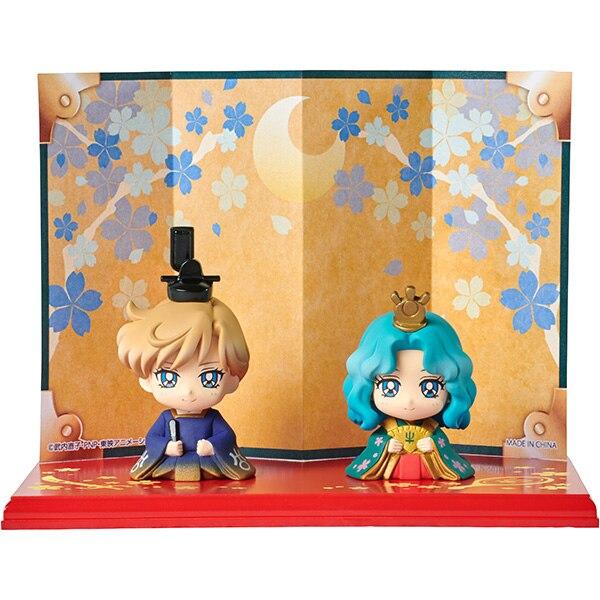 PrettyAngel ของแท้ Megahouse Petit Chara Hinamatsuri Pretty Guardian Sailor Moon Usagi & Mamoru Haruka & Michiru-ใน ฟิกเกอร์แอคชันและของเล่น จาก ของเล่นและงานอดิเรก บน   3
