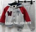 2015 conjuntos de ropa para niños deporte bebés de los sistemas niños de moda traje de marca sudadera con capucha / abrigos + pantalones 2 t 3 t