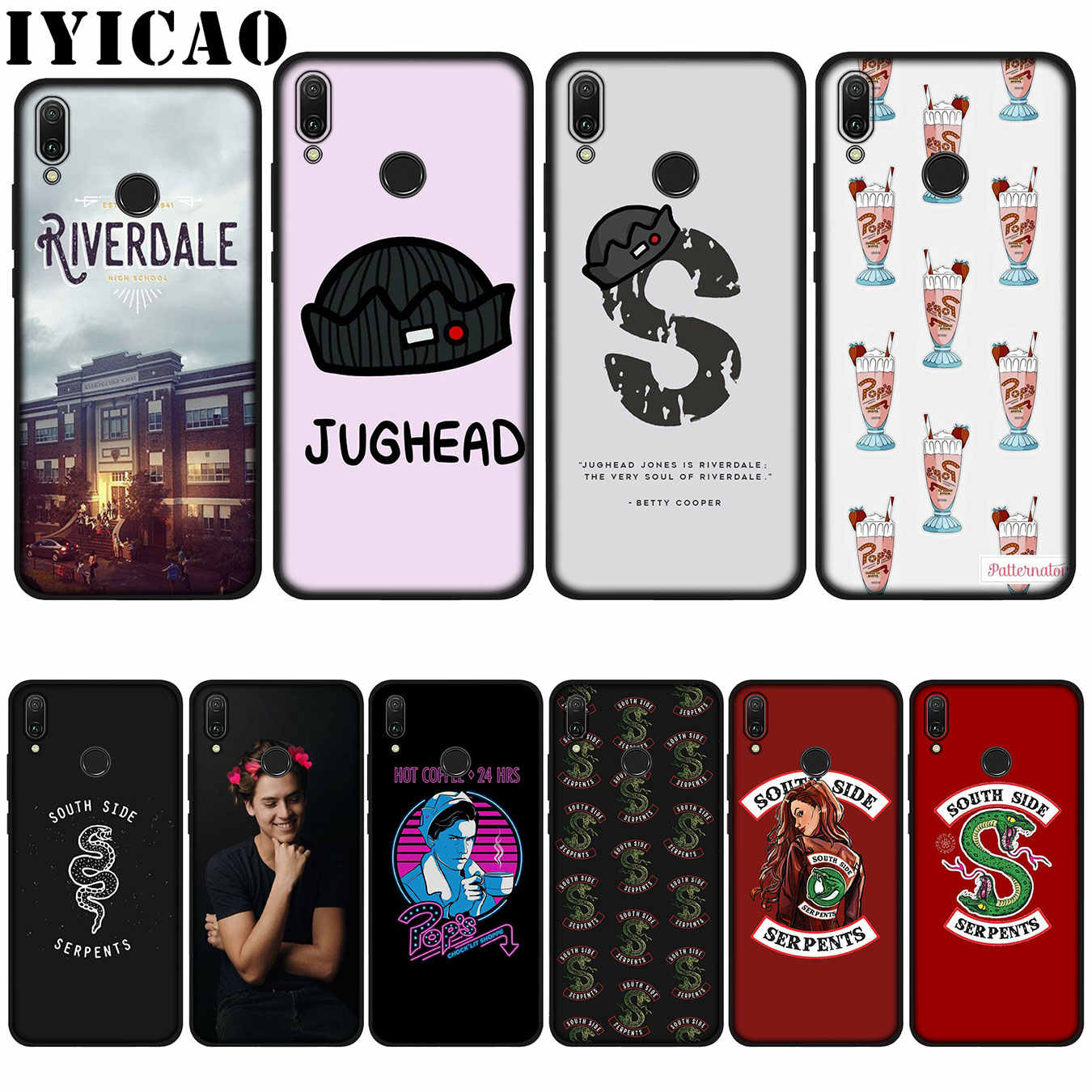 IYICAO Riverdale South Side Serpents Soft Case for Huawei P20 Pro P10 P8 P9 P30 Lite Mini 2017 P Smart 2019 Cover