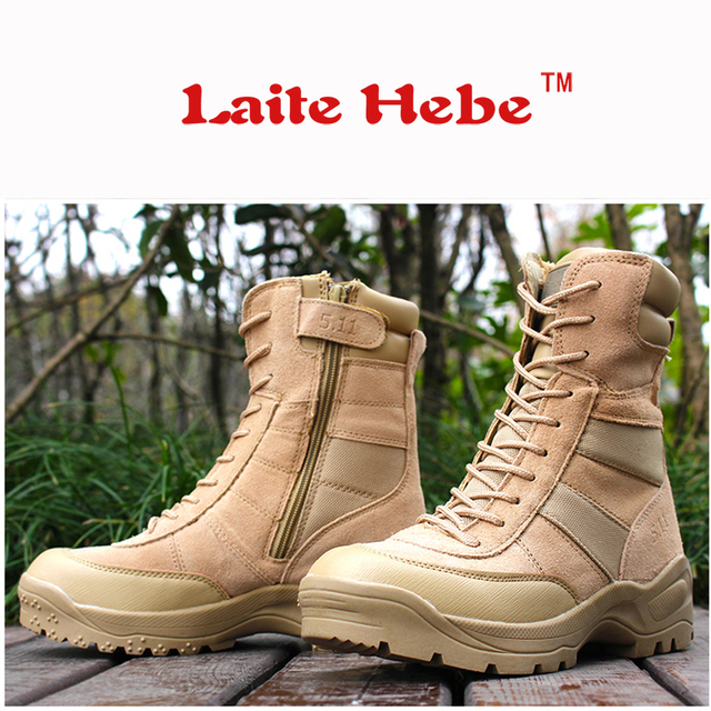 Laite Hebe Military Men Boots Delta Tactical Boots SWAT American Combat Winter Army Boots Desert Boot Hiking Shoes Men Size39-44