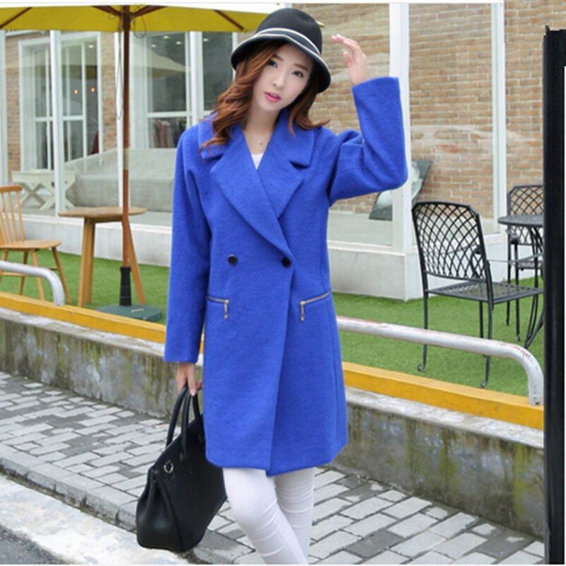 Nouveau automne hiver Trench Coat femmes Zipper Casual laine longue veste européenne Double Bresated manteaux mode pardessus , Plus la taille 2XL