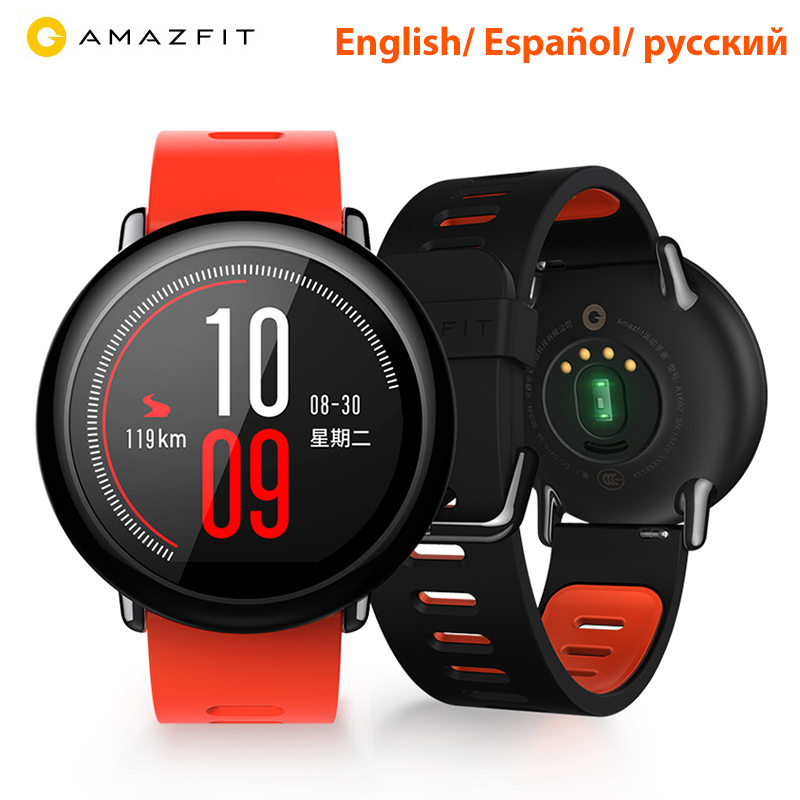 [Versione inglese] Huami Amazfit Ritmo Amazfit Smartwatch Intelligente Orologio Bluetooth GPS Informazioni Push Heart Rate Monitor Intelligente