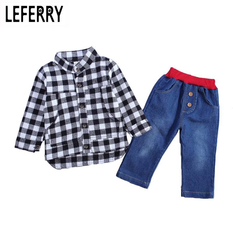 2018 New Autumn Baby Boy Clothing Set Toddler Boys Clothing Kids Clothes Boys Set Children Clothing Plaid Shirt + Jeans Pants эголанза таблетки 5 мг 28 шт