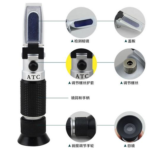 ФОТО Handheld brix Refractometer brix range 0~90%