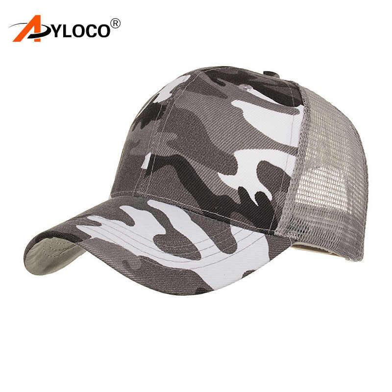 5d73b543 ... 2018 New Arrival MEN'S HATS Men Camo Baseball Caps Mesh for Spring  Summer Outdoor Camouflage Jungle ...