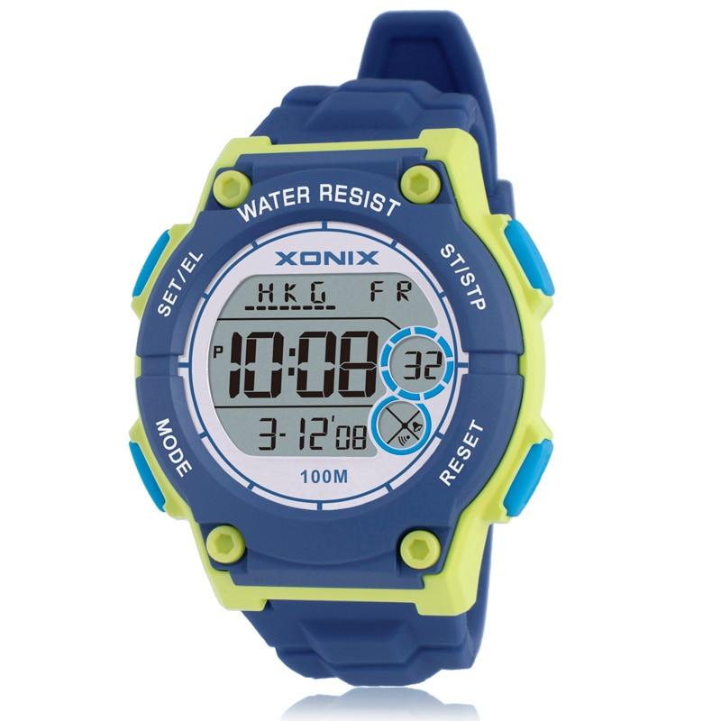 все цены на Hot Sale!!! TOP World Time Womens Sports Watches Waterproof 100m Digital Watch Running Swimming Diving Wristwatch Montre Femme онлайн