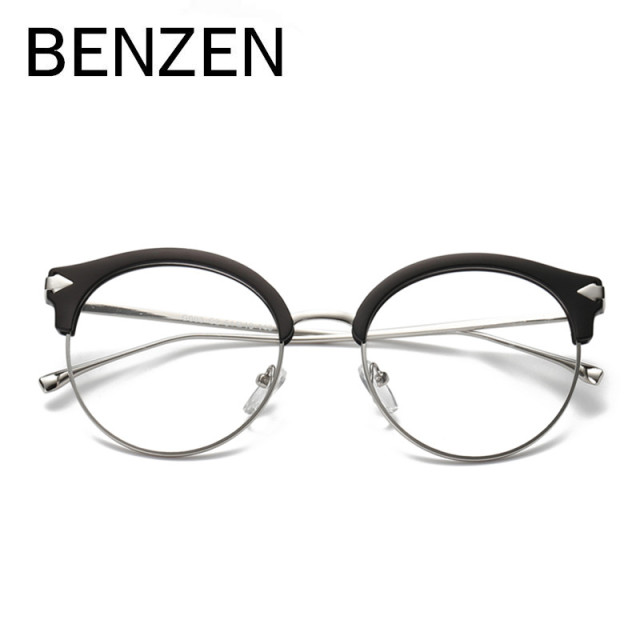 a3e1762c52 BENZEN Vintage Cat Eye Glasses Frame Women Retro Eyeglasses Frame Pectacles  For Myopia Eyewear With Case