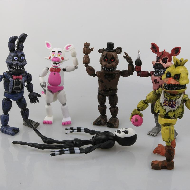 Five Nights At Freddy/'s 6 PCS FNAF Action Figures PVC Dolls Decoration Kid Toys