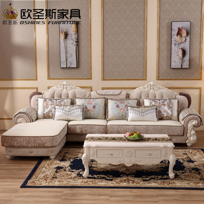 Luxury l shaped sectional living room furniutre Antique Europe ...